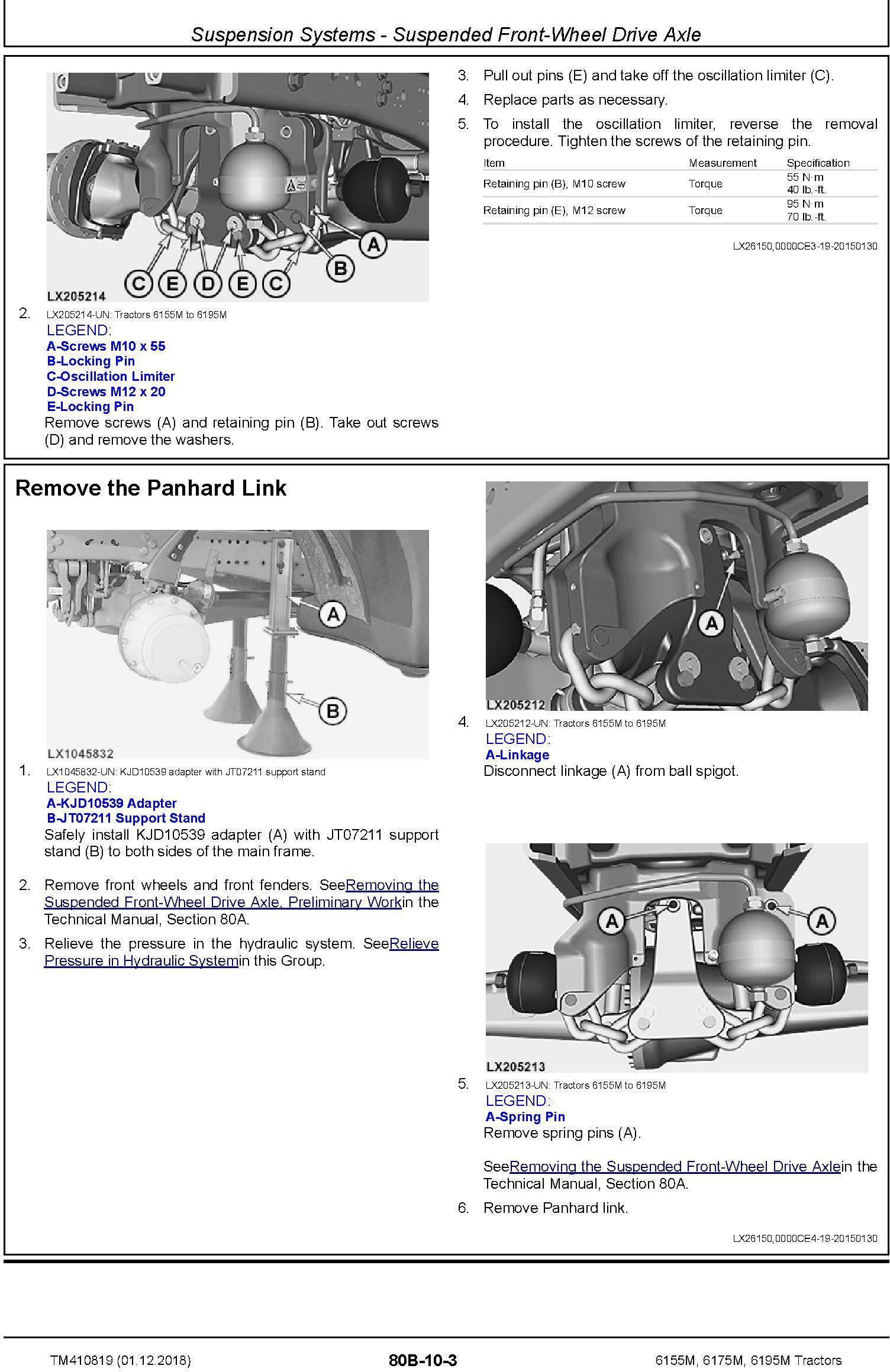 John Deere 6155M, 6175M, 6195M Tractors (MY18) Repair Technical Manual (TM410819) - 3