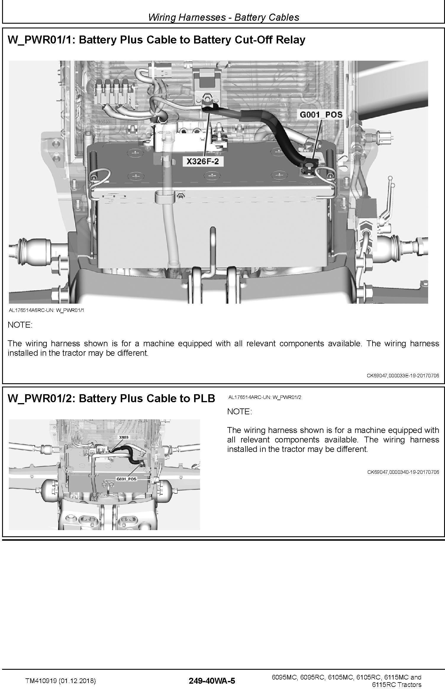 John Deere 6095MC 6095RC 6105MC 6105RC 6115MC 6115RC Tractors Diagnostic Technical Manual (TM410919) - 1