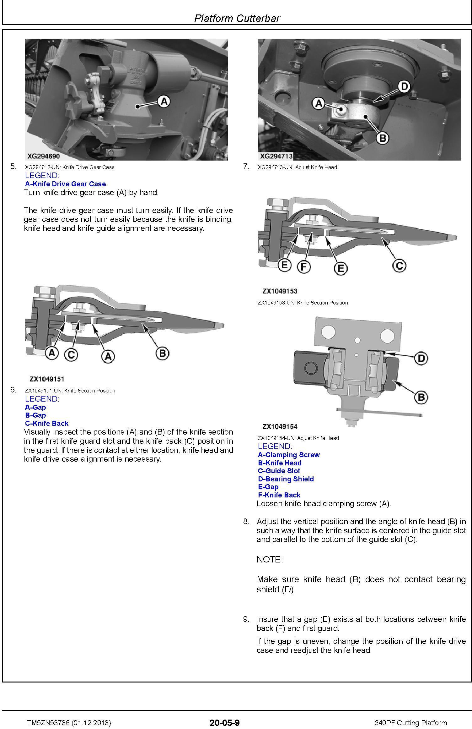 John Deere 640PF Cutting Platform Technical Service Manual (TM5ZN53786) - 2