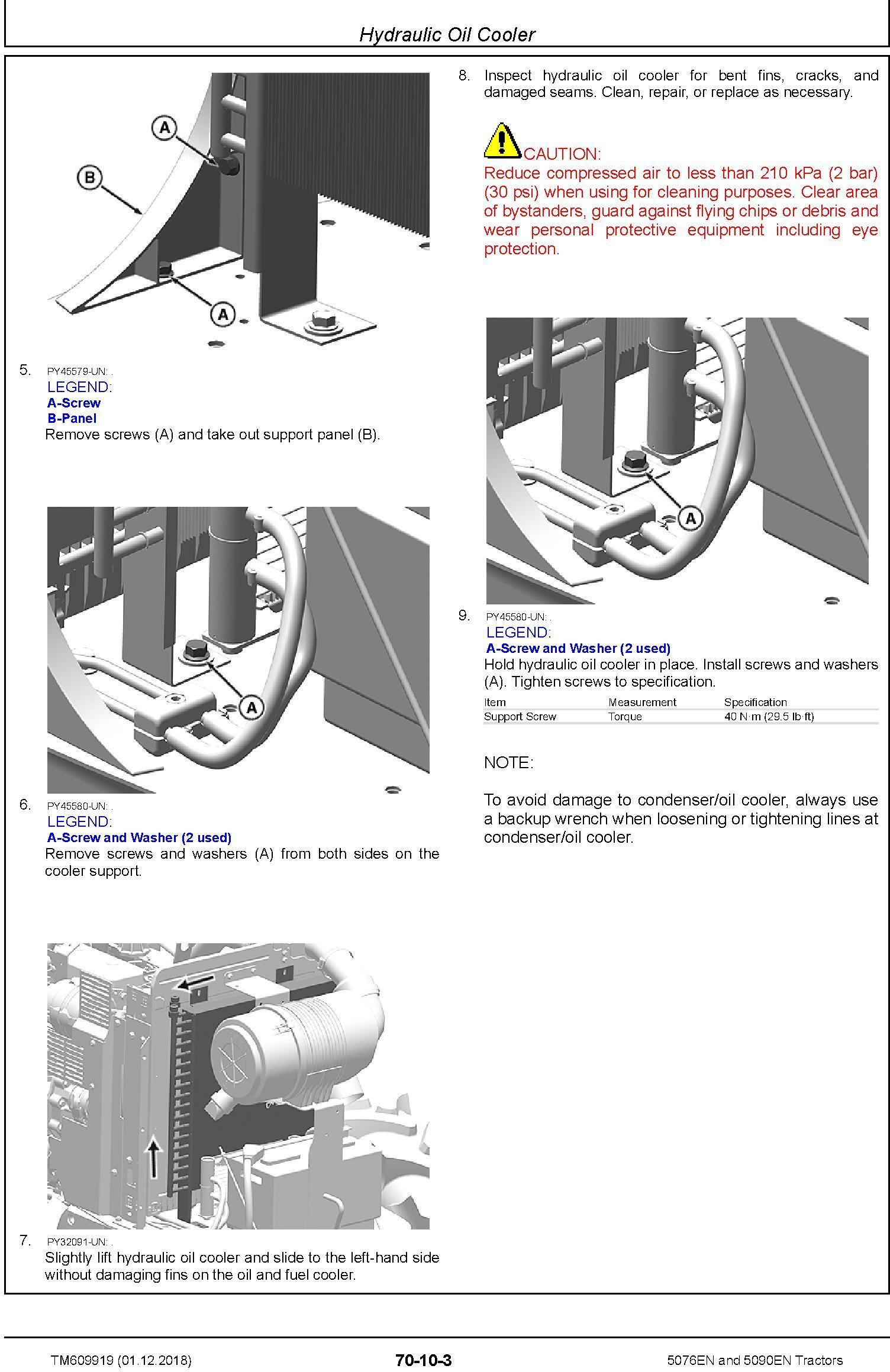 John Deere 5076EN and 5090EN Tractors Repair Technical Service Manual (TM609919) - 1