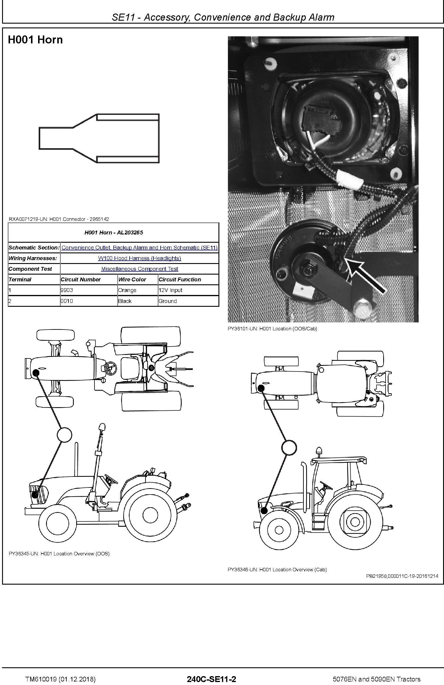 John Deere 5076EN and 5090EN Tractors Diagnostic Technical Service Manual (TM610019) - 1