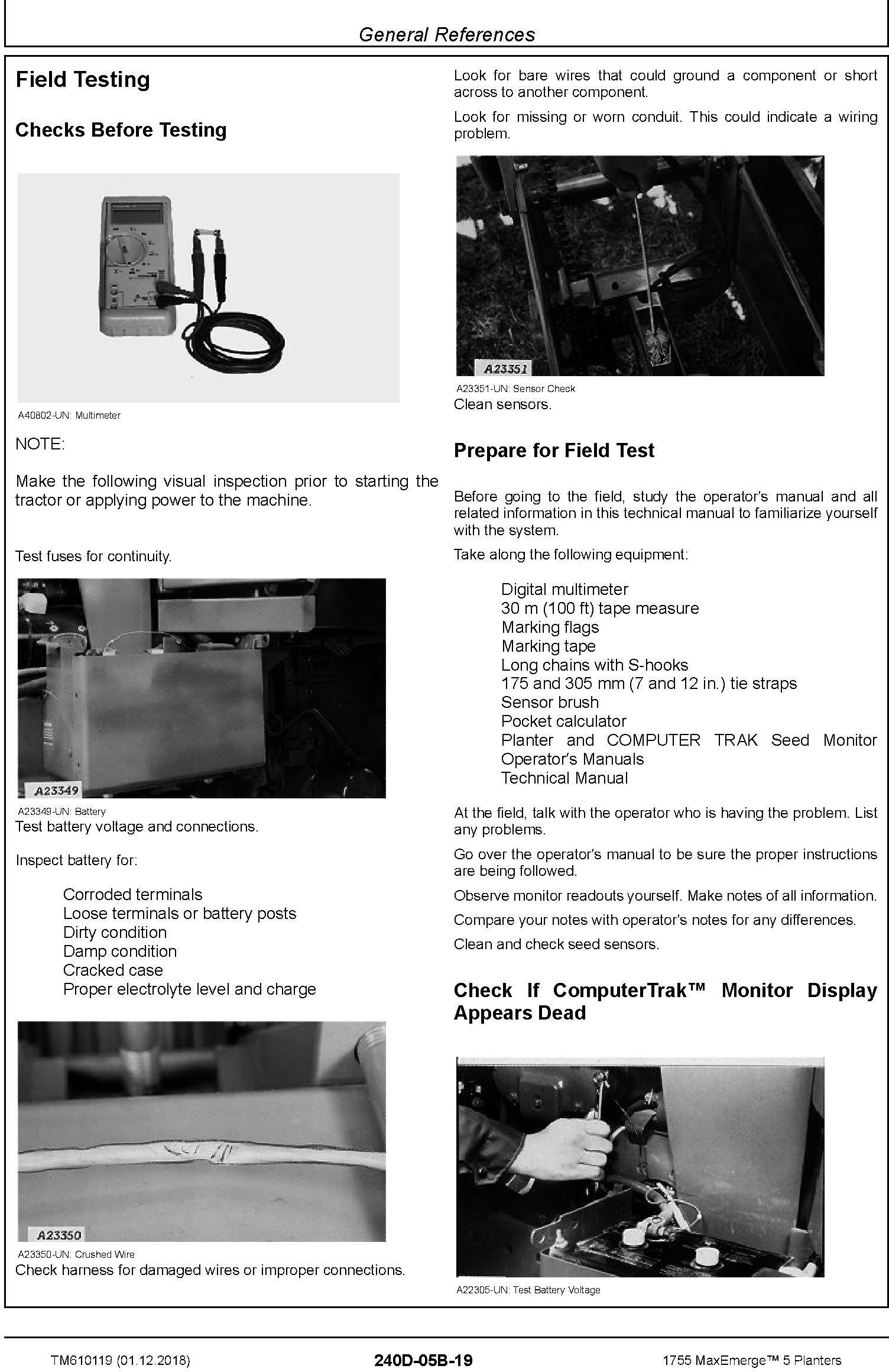JD John Deere 1755 MaxEmerge 5 Planters Diagnostic Technical Service Manual (TM610119) - 1