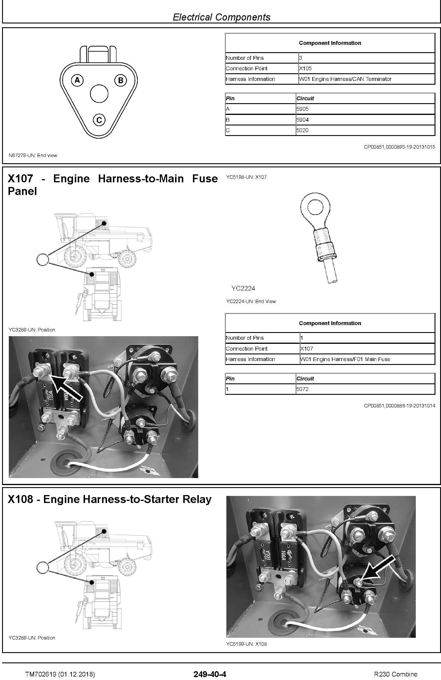 John Deere R230 Combine Technical Service Manual (TM702619) - 3