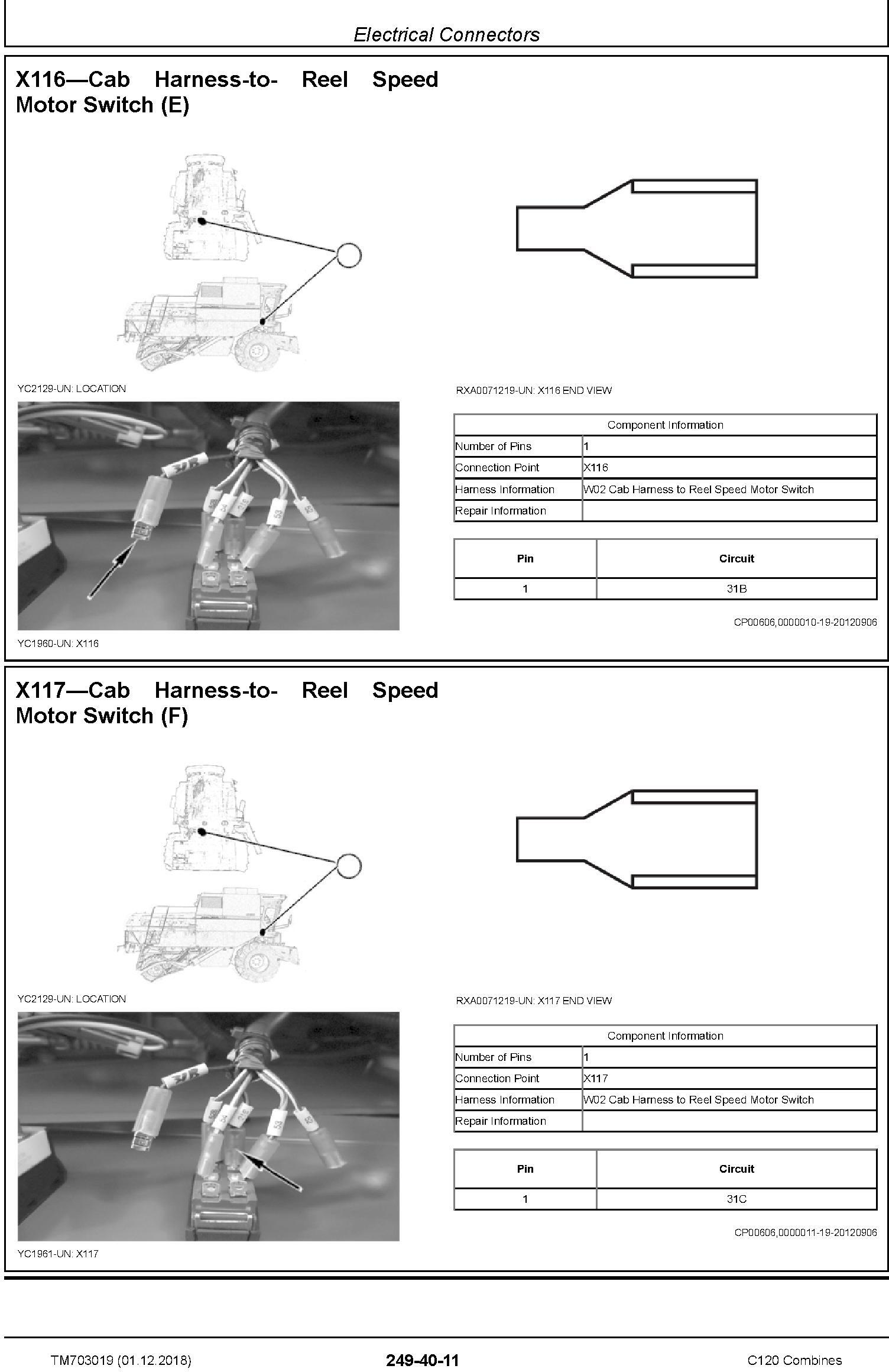 John Deere C120 Combines (Asian Edition) Technical Service Manual (TM703019) - 3