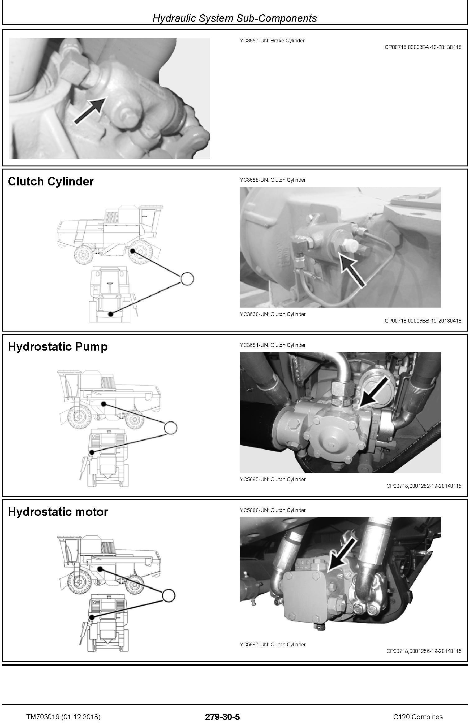 John Deere C120 Combines (Asian Edition) Technical Service Manual (TM703019) - 2