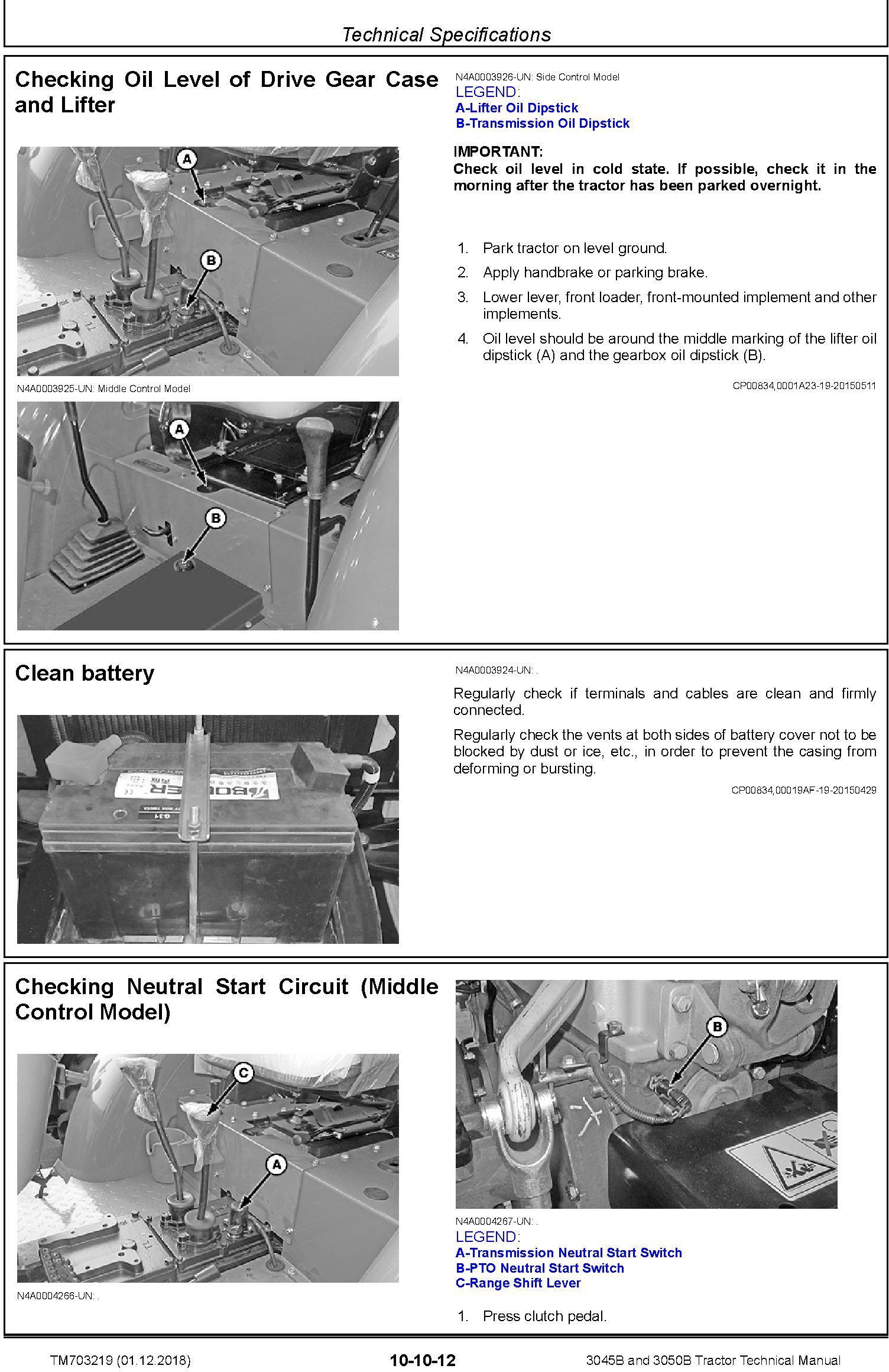 John Deere 3045B and 3050B Tractors Technical Service Manual (TM703219) - 1