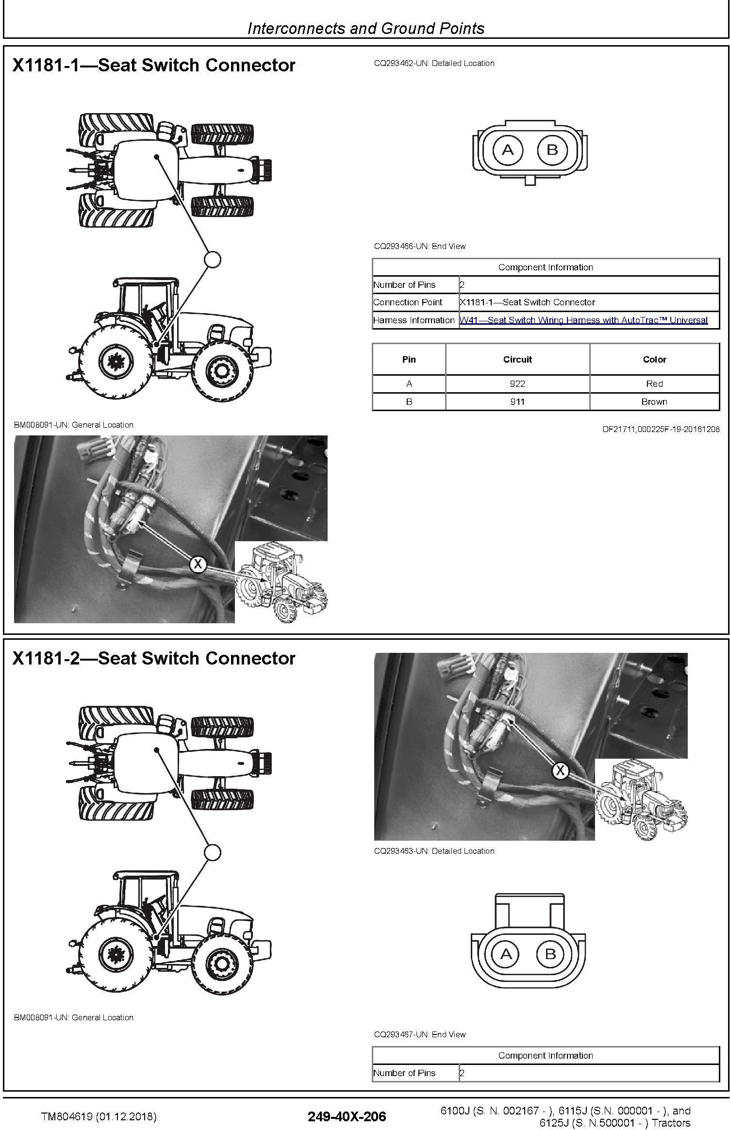 John Deere 6100J, 6115J, 6125J Tractors Diagnostic Technical Service Manual (TM804619) - 1