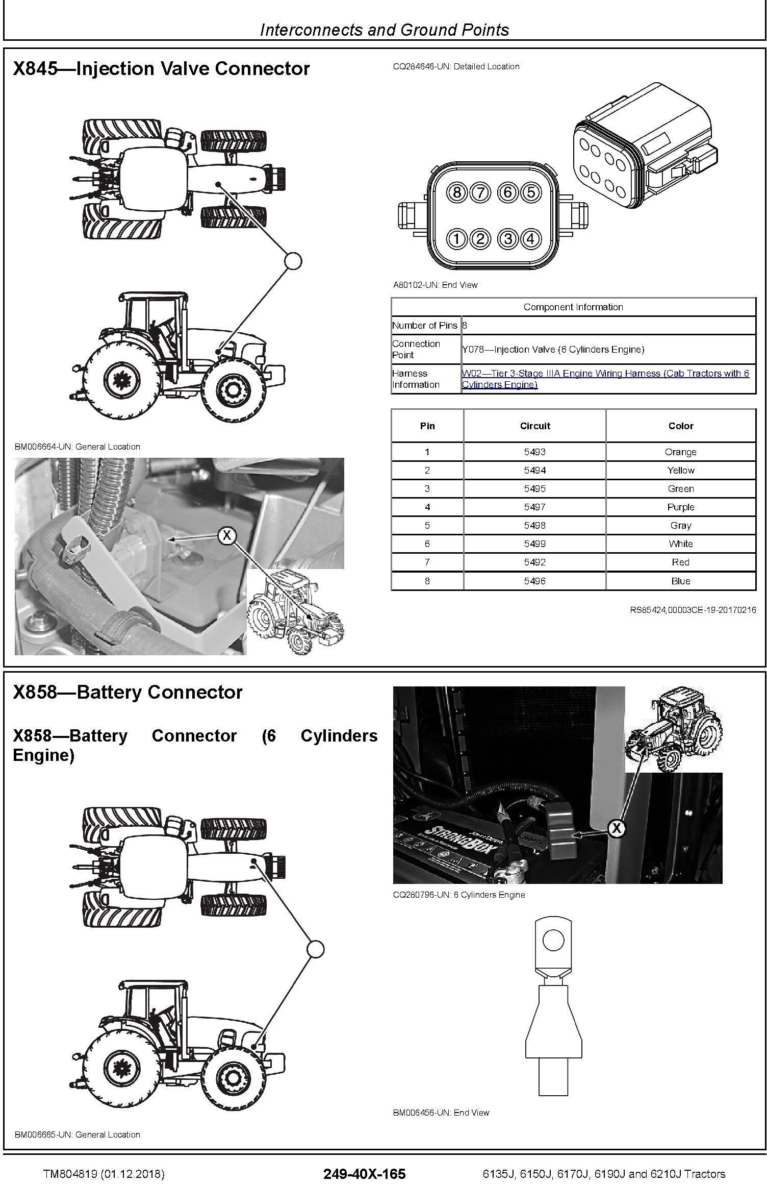 John Deere 6135J, 6150J, 6170J, 6190J, 6210J Tractors Diagnostic Technical Service Manual (TM804819) - 1