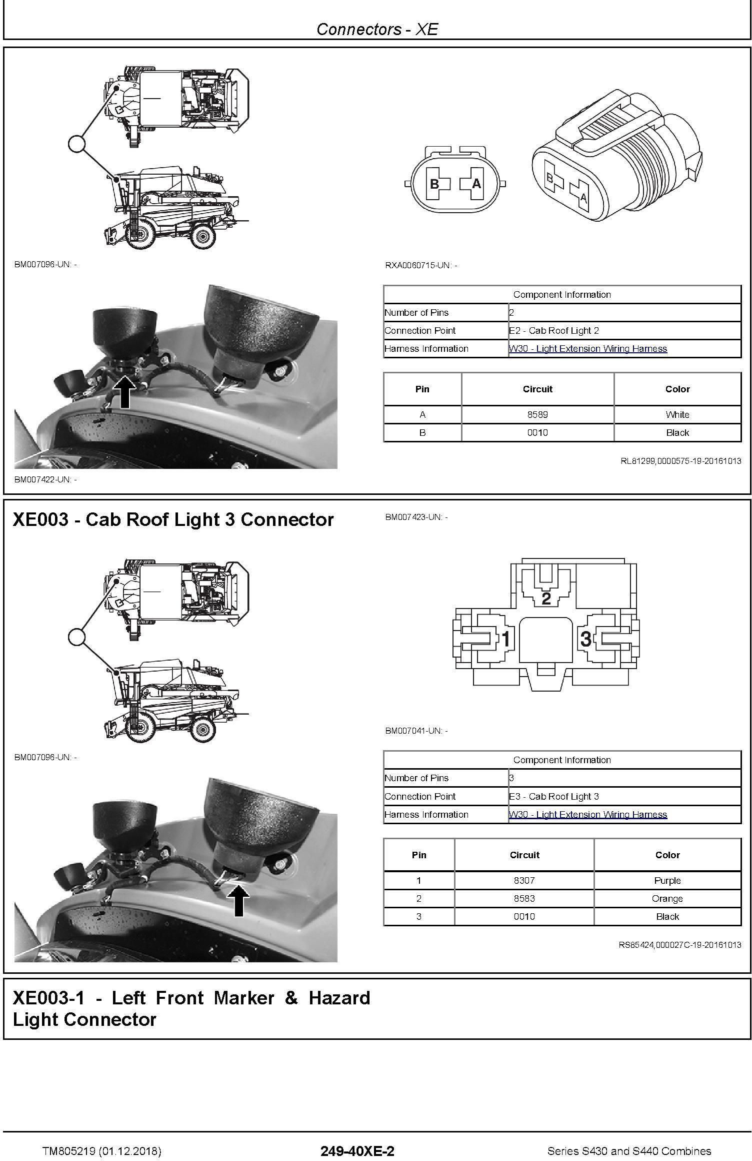 John Deere S430 and S440 Combines Diagnostic Technical Service Manual (TM805219) - 1