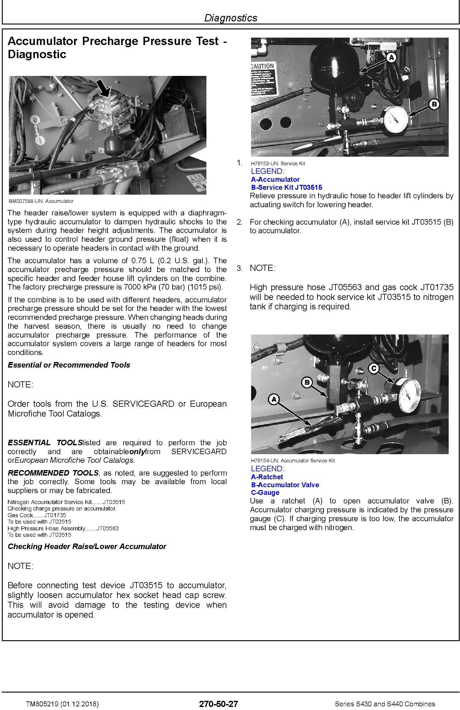 John Deere S430 and S440 Combines Diagnostic Technical Service Manual (TM805219) - 3