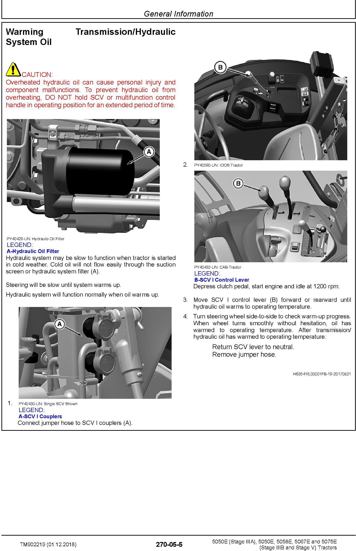 John Deere 5050E, 5050E, 5058E, 5067E, 5075E Tractors Diagnostic Technical Service Manual (TM902219) - 2