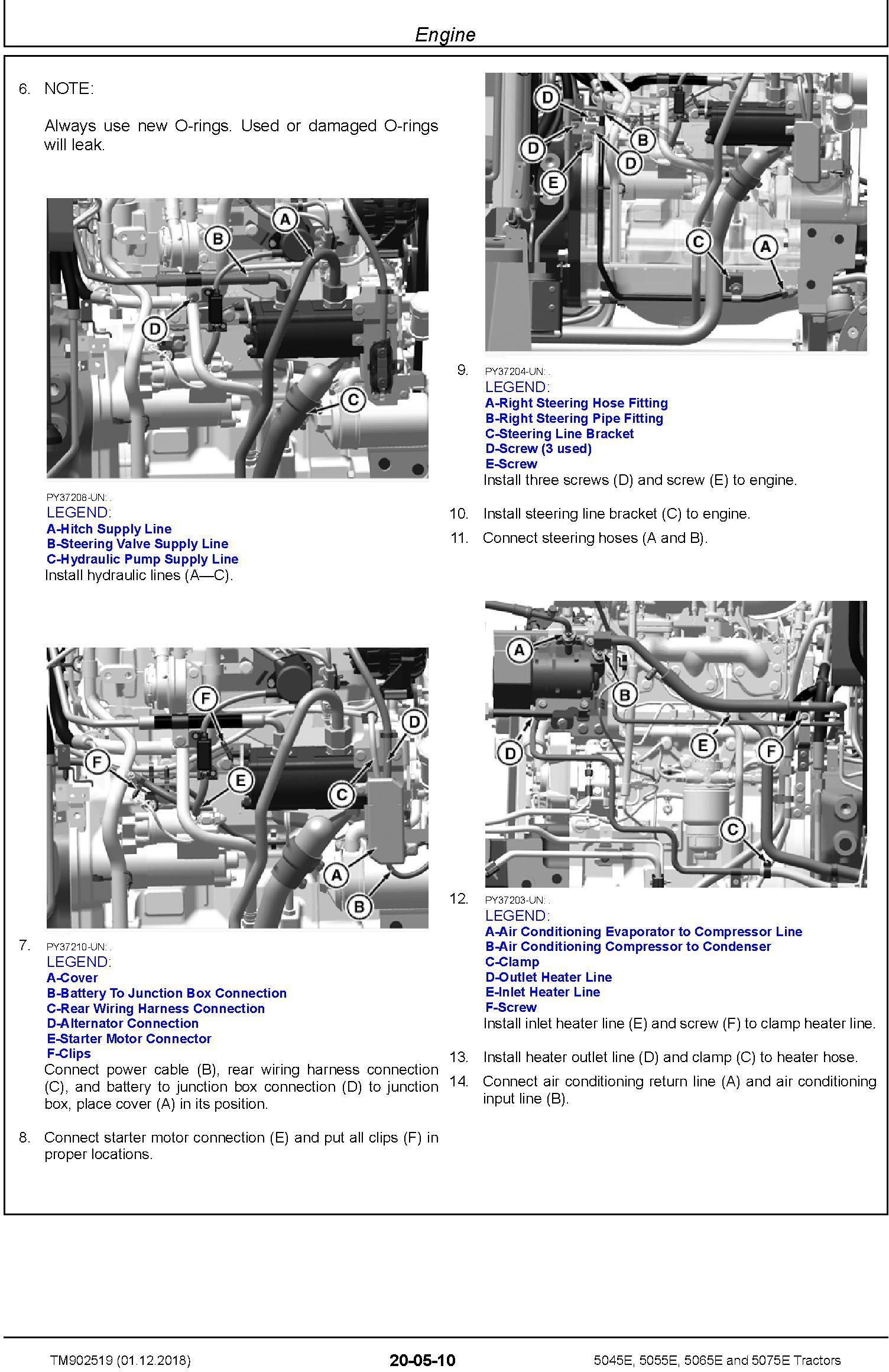 John Deere 5045E, 5055E, 5065E, 5075E Tractors (SN.103101-) Repair Technical Service Manual TM902519 - 1