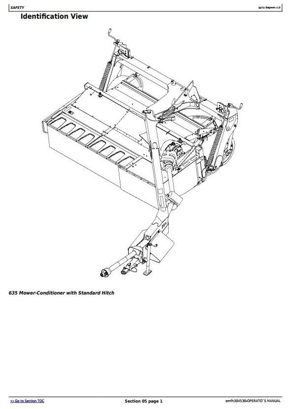 OMFH304530 - John Deere 625, 630, 635 Mower-Conditioners (SN.-370000) Operate and Maintenance Manual - 3