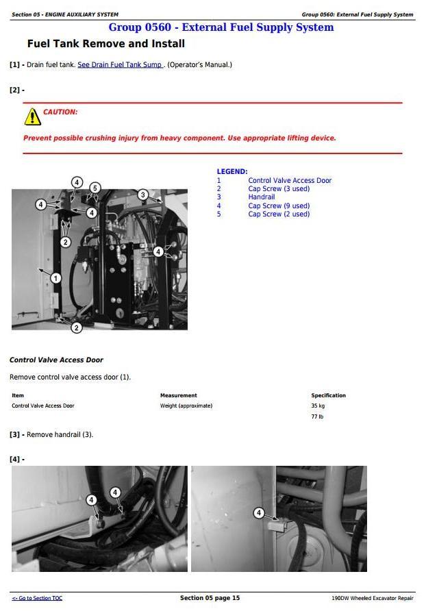 TM10543 - John Deere 190DW Wheeled Excavator Service Repair Technical Manual - 1