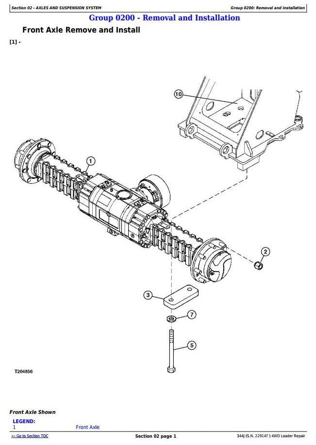 TM11219 - John Deere 344J 4WD Loader (SN. from 22914) Service Repair Technical Manual - 1