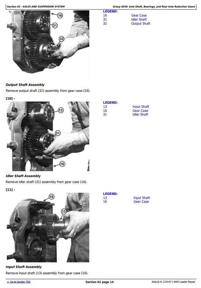 TM11219 - John Deere 344J 4WD Loader (SN. from 22914) Service Repair Technical Manual - 2