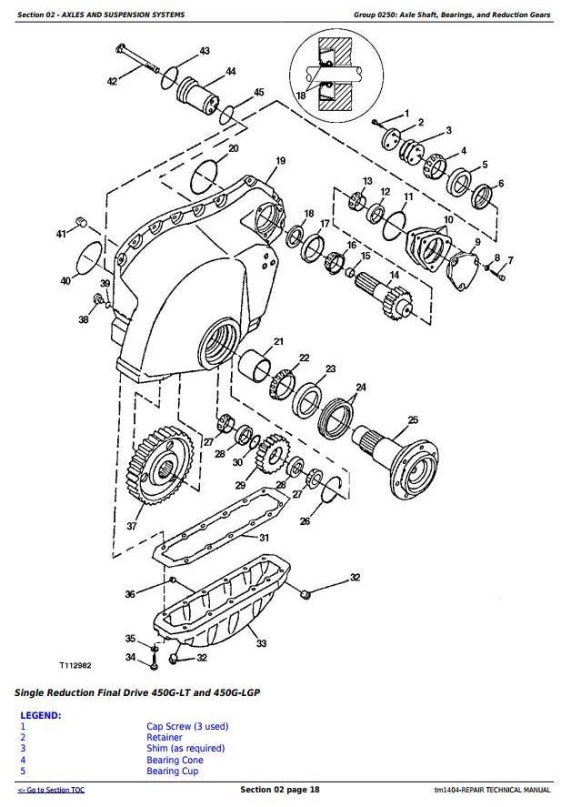 TM1404 - John Deere 450G, 550G, 650G Crawler Dozer; 455G, 555G Loader Service Repair Technical Manual - 2