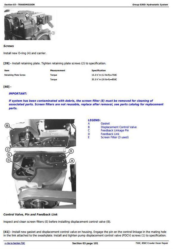 TM1589 - John Deere 750C, 850C Crawler Dozer Service Repair Technical Manual - 1