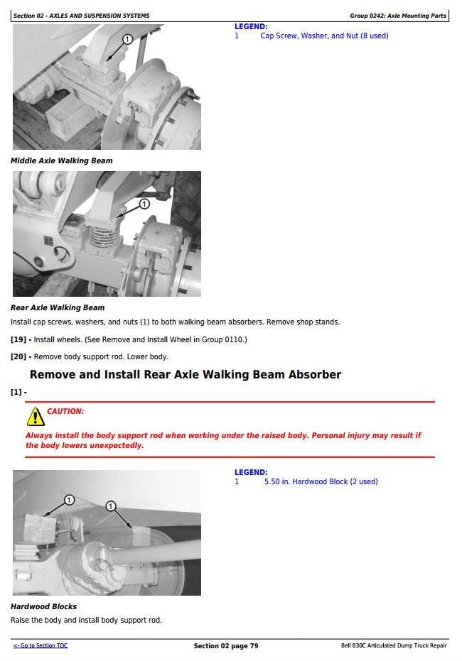 TM1814 - John Deere BELL B30C Articulated Dump Truck Service Repair Technical Manual - 2