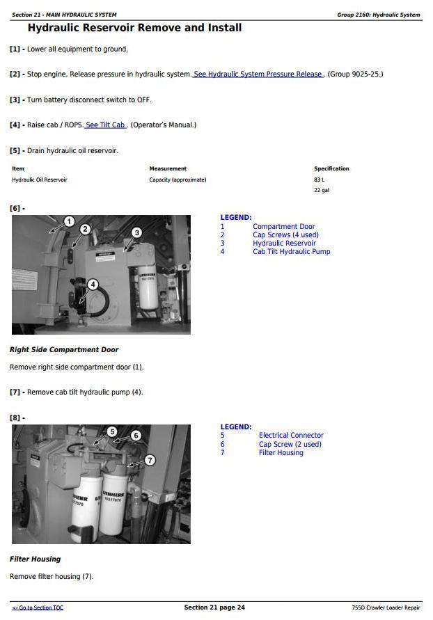 TM2367 - John Deere 755D Crawler Loader Service Repair Technical Manual - 3