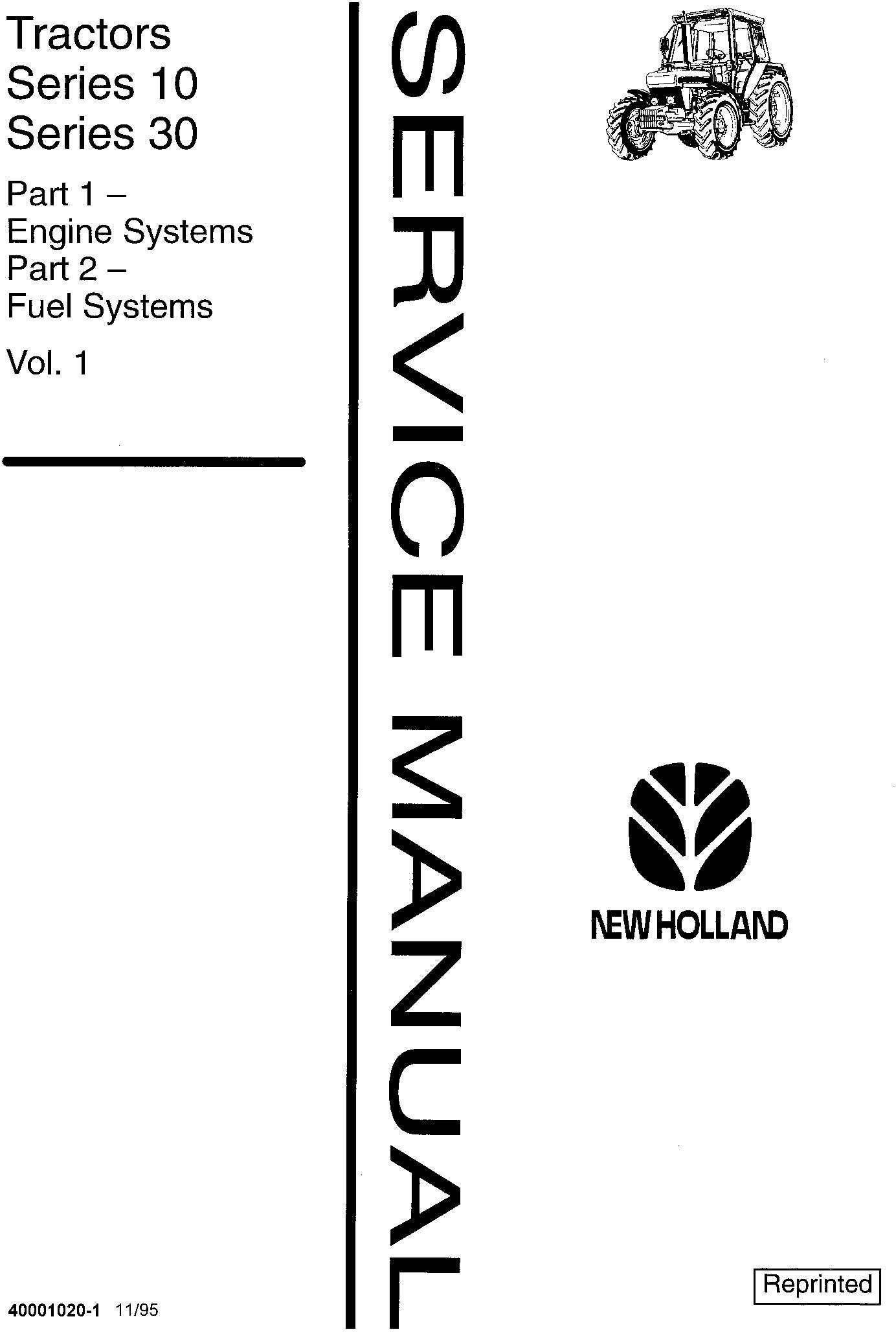 Ford , New Holland 2310-8210 (xx10 Series), 3230, 3430, 3930, 4630, 4830, 5030 Tractor Service Manual - 19372